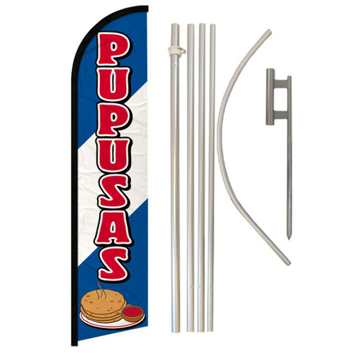 Pupusas Super Flag & Pole Kit