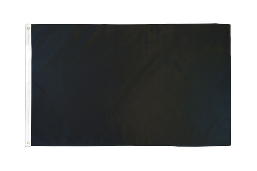 Black Solid Color Flag 3x5ft Poly