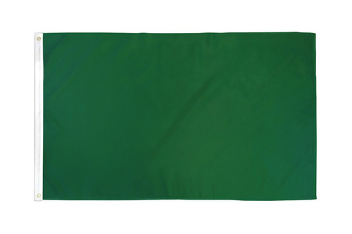 Dark Green Solid Color Flag 3x5ft Poly