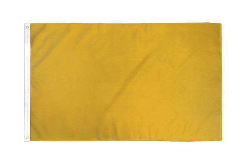 Gold Solid Color Flag 3x5ft Poly