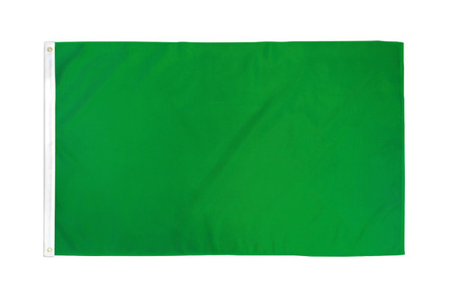 Green Solid Color Flag 3x5ft Poly