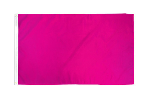 Magenta Solid Color Flag 3x5ft Poly