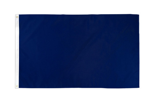 Navy Blue Solid Color Flag 3x5ft Poly