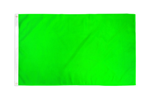 Neon Green Solid Color Flag 3x5ft Poly