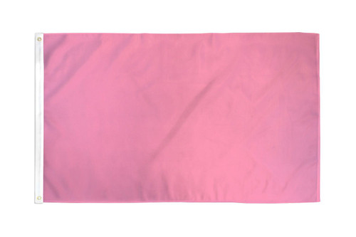 Pink Solid Color Flag 3x5ft Poly