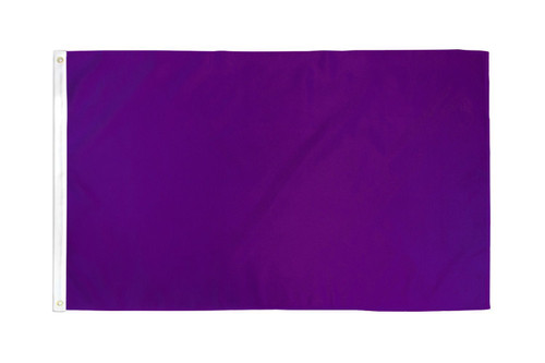 Purple Solid Color Flag 3x5ft Poly
