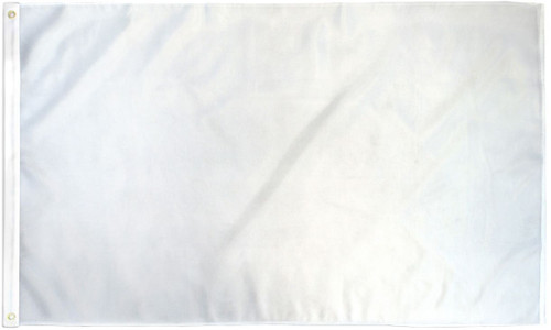 White Solid Color Flag 3x5ft Poly