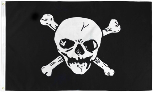 Big Skull Pirate Flag 3x5ft Poly