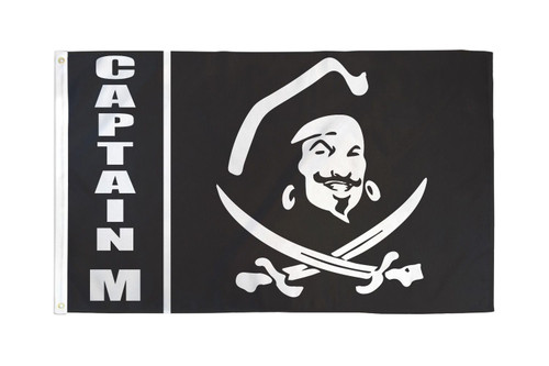 Captain M Pirate Flag 3x5ft Poly