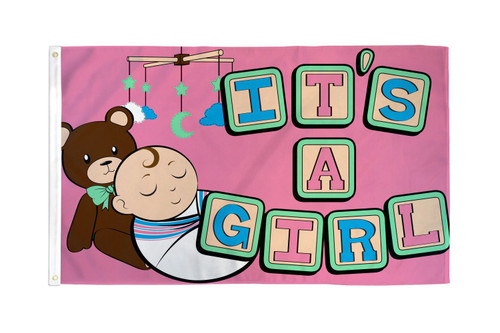 It's a Girl Flag 3x5ft Poly