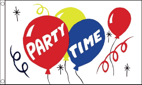 Party Time Flag 3x5ft Poly