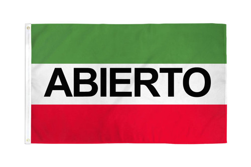 Abierto Flag 3x5ft Poly