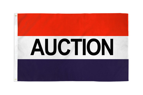 Auction Flag 3x5ft Poly