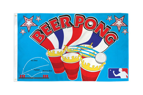 Beer Pong Flag 3x5ft Poly