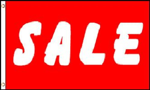 Sale (Red & White) Flag 3x5ft Poly