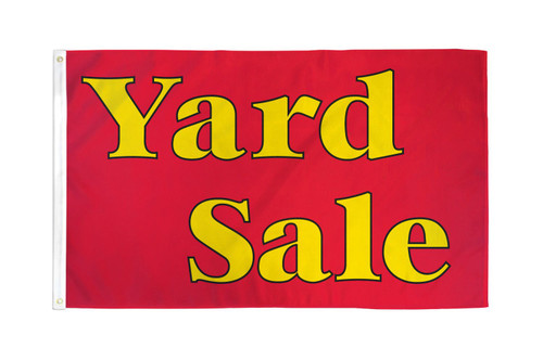 Yard Sale (Red & Yellow) Flag 3x5ft Poly