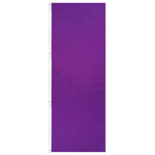 Purple Solid Color 3x8ft DuraFlag Banner