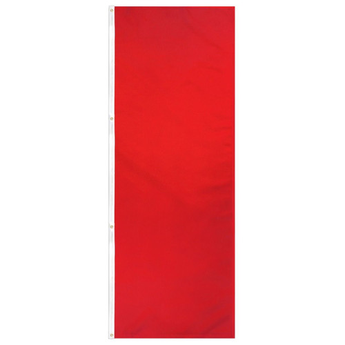 Red Solid Color 3x8ft DuraFlag Banner