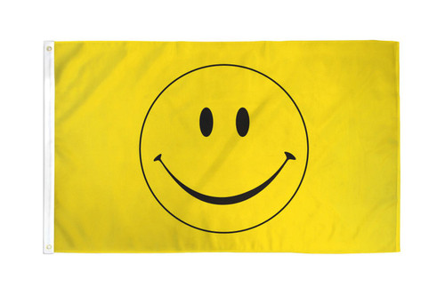 Happy Face Flag 4x6ft Poly