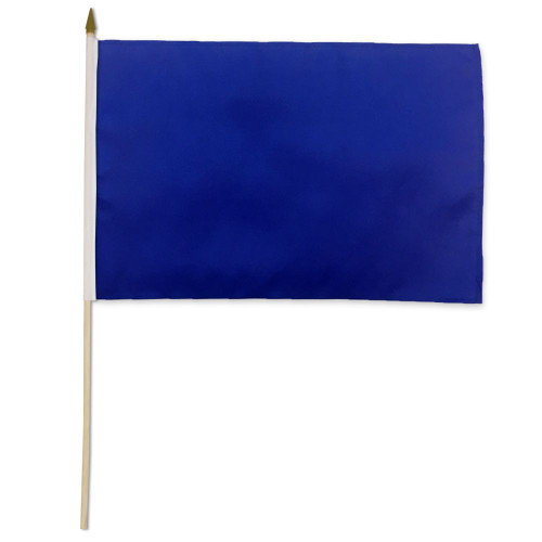 Royal Blue Solid Color 4x6in Stick Flag