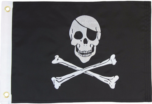 Pirate (Regular) 12x18in Grommeted Embroidered Flag