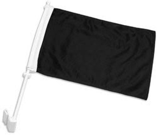 Black Solid Color Double-Sided Car Flag