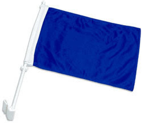 Royal Blue Solid Color Double-Sided Car Flag