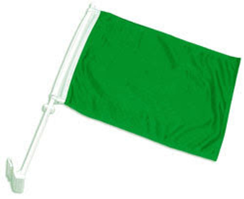 Green Solid Color Double-Sided Car Flag