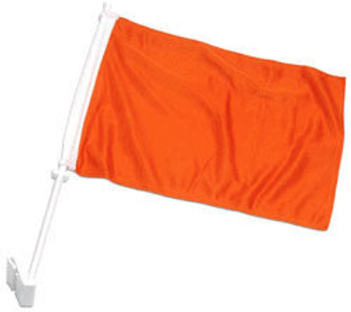 Orange Solid Color Double-Sided Car Flag