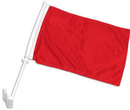 Red Solid Color Double-Sided Car Flag