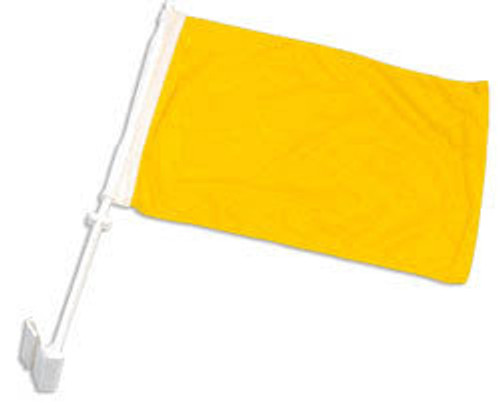 Yellow Solid Color Double-Sided Car Flag