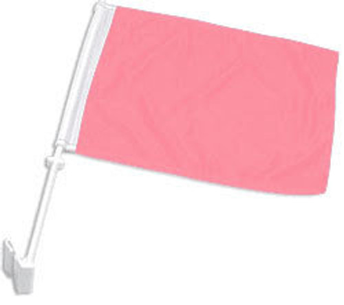 Pink Solid Color Double-Sided Car Flag
