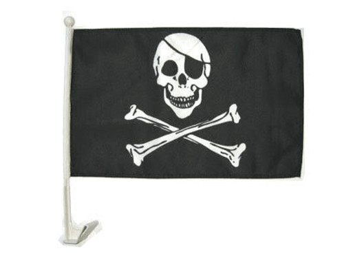 Pirate Double-Sided Car Flag
