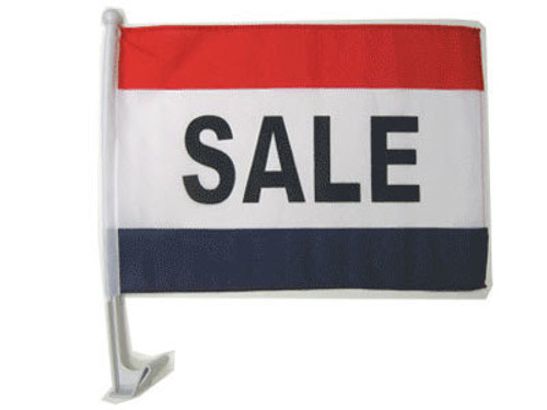 Sale (RWB) Single-Sided Car Flag