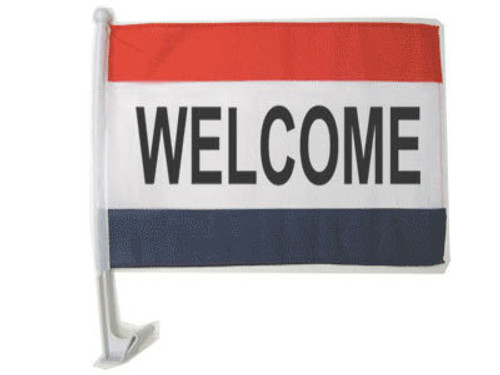 Welcome Single-Sided Car Flag