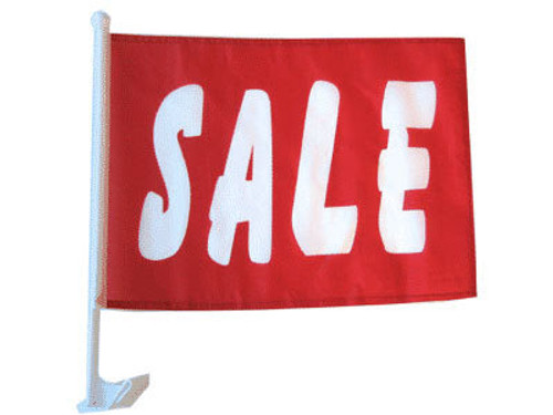 Sale (Red) Single-Sided Car Flag