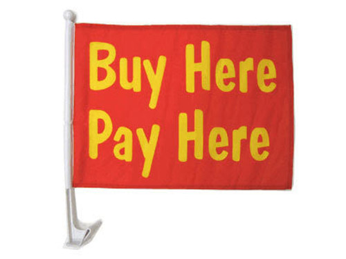 Buy Here Pay Here Single-Sided Car Flag