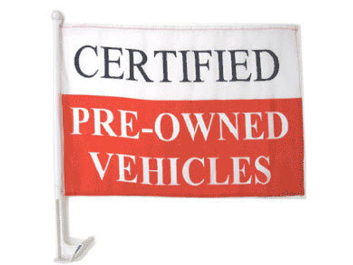 Certified Preowned Single-Sided Car Flag