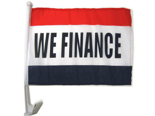 We Finance Single-Sided Car Flag