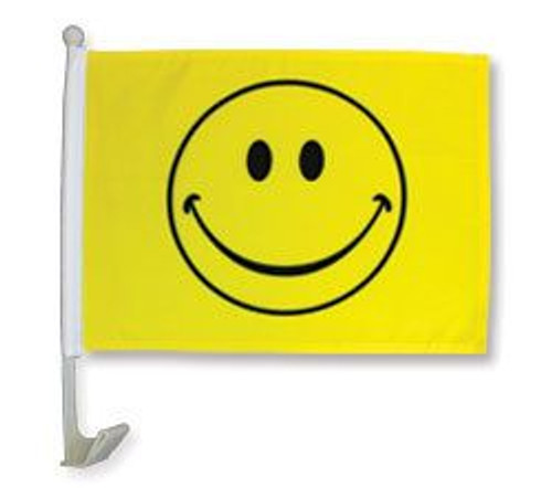 Happy Face Car Flag