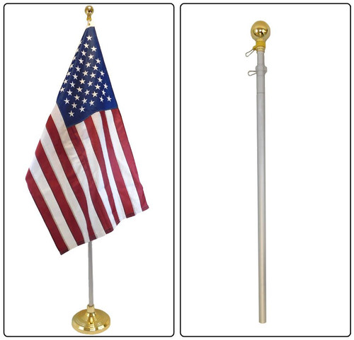 8ft Aluminum Flag Pole (Ball Top)