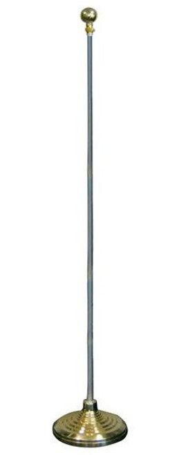 8ft Flag Pole and Gold Base Kit (Ball Top)