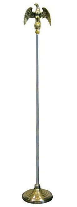 8ft Flag Pole and Gold Base Kit (Eagle Top)