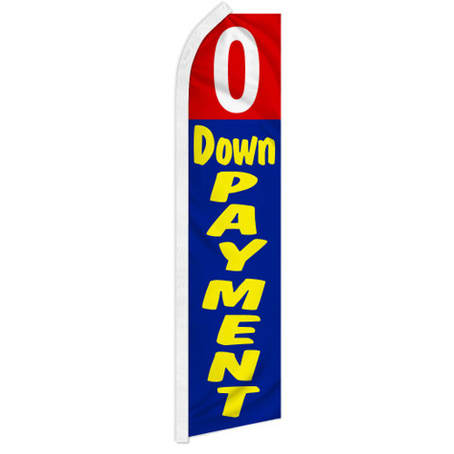 0 Down Payment (Red & Blue) Super Flag