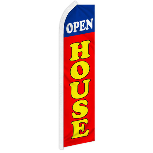 Open House (Blue & Red) Super Flag