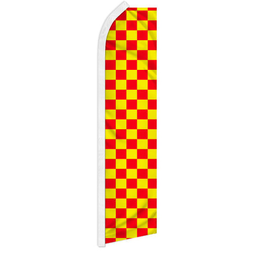 Red & Yellow Checkered Super Flag