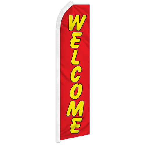 Welcome (Red & Yellow) Super Flag