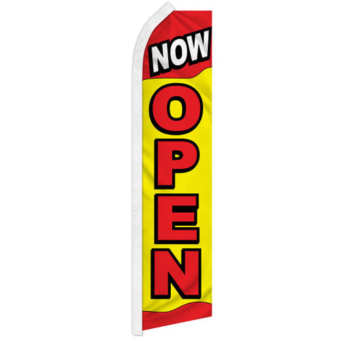 Now Open (Red & Yellow) Super Flag