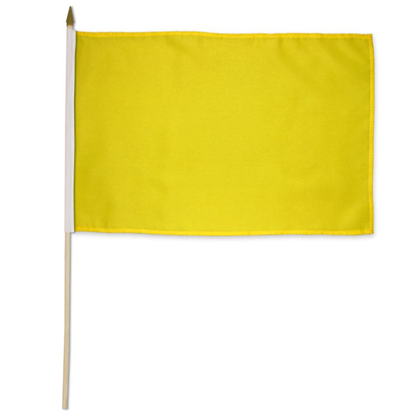 Yellow Solid Color 12x18in Stick Flag