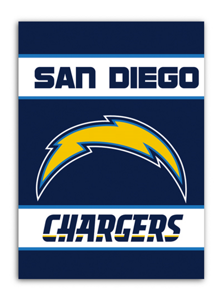 """San Diego Chargers """"28 X 40"""" 2-Sided House Banner"""
